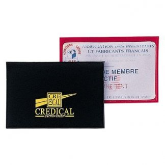 Etui 1 carte de crédit publicitaire en PVC - recto verso