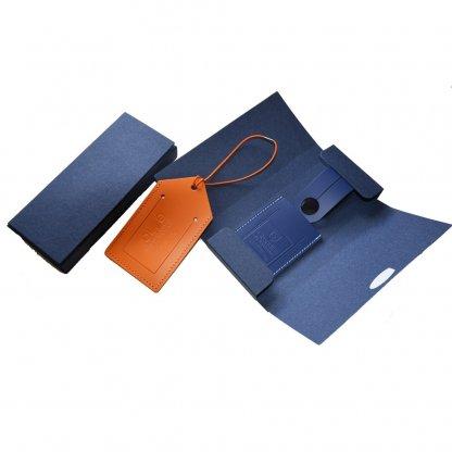 Etui Carton Pour Porte étiquettes Pour Bagages En Cuir Recyclé SYNETIC