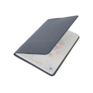 Etui passeport publicitaire en PVC - entre-ouvert