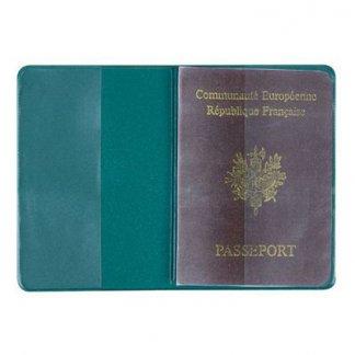 Etui passeport publicitaire en PVC - ouvert