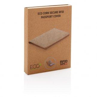 Etui publicitaire pour passeport en liège emballage personnalisable - SAFECARD