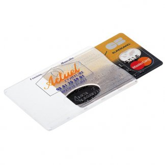Etui rigide avec fenêtre publicitaire pour carte de crédit en plastique polystyrène