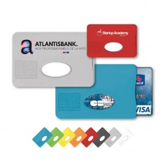 Etui rigide pour carte de crédit Anti-RFID en plastique polystyrène - Toutes couleurs