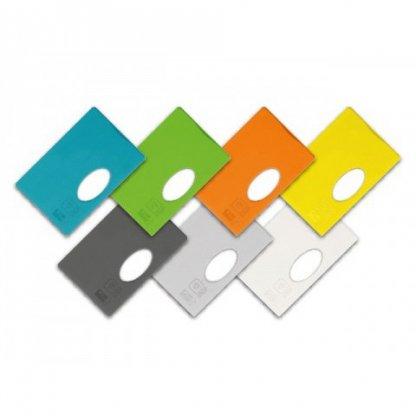 Etui Rigide Pour Carte De Crédit Anti RFID Promotionnel En Plastique Polystyrène 7 Couleurs