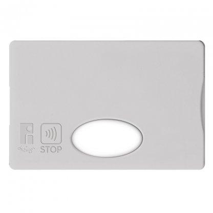 Etui Rigide Pour Carte De Crédit Anti RFID Publicitaire En Plastique Polystyrène Gris