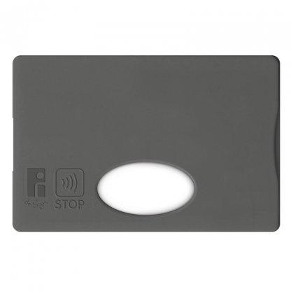 Etui Rigide Pour Carte De Crédit Anti RFID Publicitaire En Plastique Polystyrène Gris Foncé