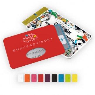 Etui rigide promotionnel pour carte de crédit en plastique polystyrène - Toutes couleurs