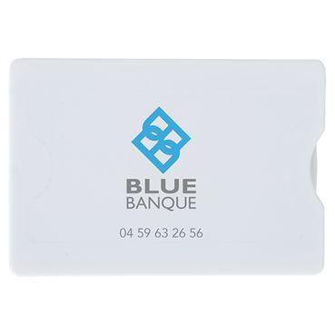 Etui Rigide Publicitaire Pour Carte De Crédit Anti RFID En Polycarbonate Marquage 2 Couleurs