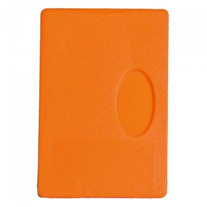 Etui Rigide Publicitaire Pour Carte De Crédit En Plastique Polystyrène Orange