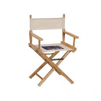 Fauteuil metteur en scène publicitaire en bois et coton - marquage assise - CINE