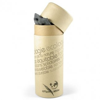 Foulard à franges publicitaire en bambou dans boîte en carton recyclé - gris - MADRAS