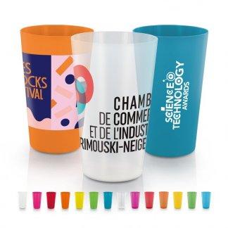 Gobelet promotionnel réutilisable en polypropylène - 300ml - GLASS
