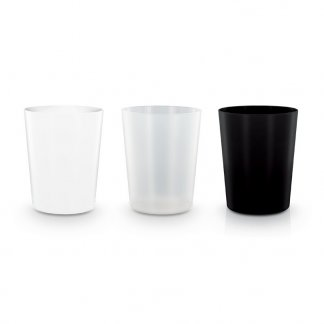 Gobelet réutilisable trois coloris personnalisable en polypropylène - 120ml - GLASS