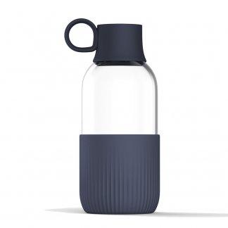 Gourde éco-conçue publicitaire en verre - 500ml - GOBI INDOOR - Anthracite