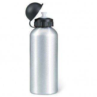 Gourde sport 600ml publicitaire en aluminium - Silver brillant - BISCING
