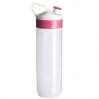 Gourde sport personnalisable 450ml en plastique biodégradable - rose - BIO-BOTTLE FUSE