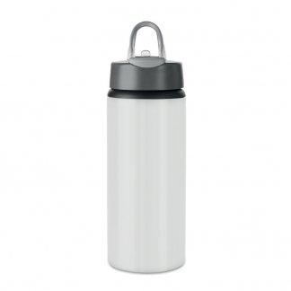 Gourde sport promotionnelle avec paille en aluminium - 600ml - Blanc - ATLANTA
