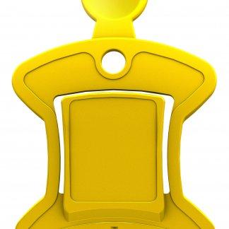Gratte-glace, jeton pour caddie multifonction - jaune - OSCAR
