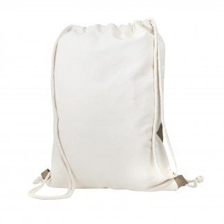Gym bag bicolore publicitaire en coton recyclé - 180g - Marron - RECTOVERSO