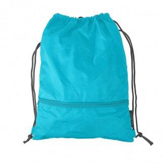 Gym bag personnalisable en bouteilles plastiques recyclées - Bleu - INZE BACK