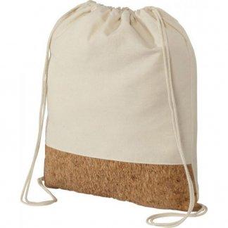 Gym bag personnalisable en coton et liège - 150g - 33x44 cm - liège - DELHI