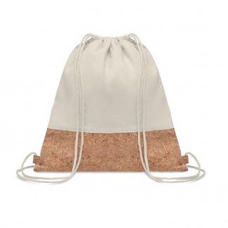 Gym bag personnalisable en coton et liège - 160g - 38x41cm - cordons - ILLIA
