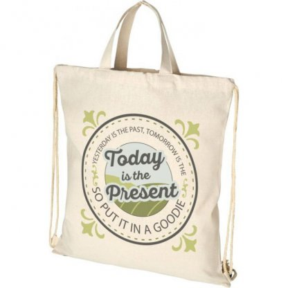 Gym Bag Personnalisable En Coton Recyclé 210g 38 X 42 Cm Logo PHEEBS