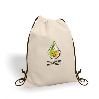 Gym bag personnalisé en coton naturel - 160g - Marquage Quadri - GAYA