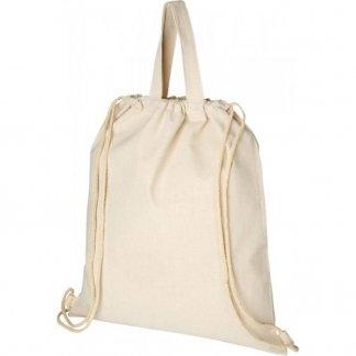 Gym bag personnalisé en coton recyclé - 210g - 38 x 42 cm - derriere -  PHEEBS