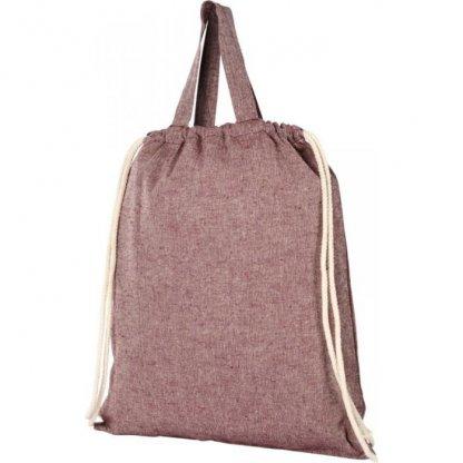 Gym Bag Personnalisé En Coton Recyclé Avec Poignées 150g 38x42cm Plissé Rose PHEEBAS