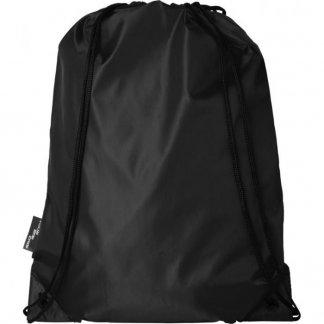 Gym bag promotionnel en bouteilles plastiques recyclées - 110g - 33 x 44 cm - noir - ORIOLE