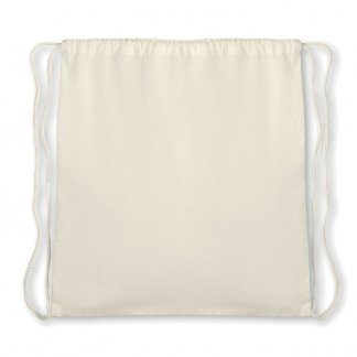Gym bag promotionnel en coton biologique - A plat - ORGANIC HUNDRED