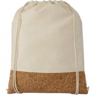Gym bag promotionnel en coton et liège - 150g - 33x44 cm - cordons - DELHI