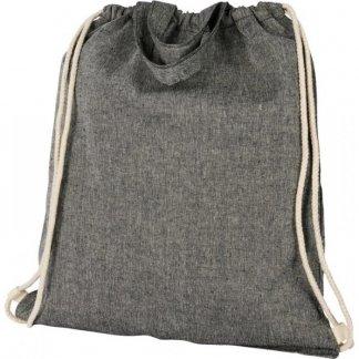 Gym bag promotionnel en coton recyclé avec poignées  - 150g - 38x42cm - cordons gris - PHEEBAS