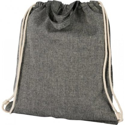 Gym Bag Promotionnel En Coton Recyclé Avec Poignées 150g 38x42cm Cordons Gris PHEEBAS