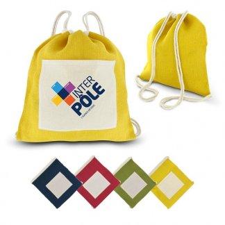 Gym bag promotionnel en jute et coton - Toutes couleurs - RUCKSACK