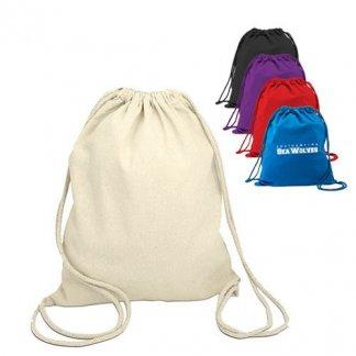 Gym bag publicitaire en coton naturel - Toutes couleurs - COLUMBIA
