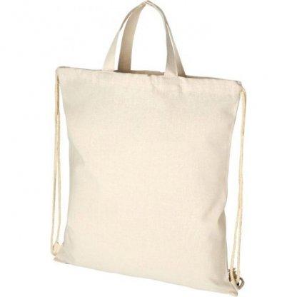Gym Bag Publicitaire En Coton Recyclé 210g 38 X 42 Cm Poignées PHEEBS