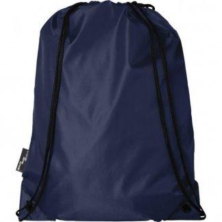 Gym bag publictaire en bouteilles plastiques recyclées - 110g - 33 x 44 cm - bleu marine - ORIOLE