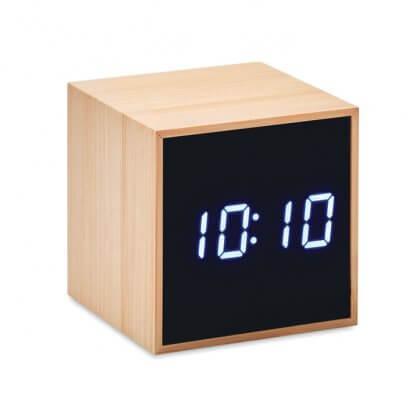 Horloge Et Réveil LED En Bambou MARA