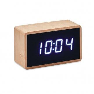 Horloge Et Réveil LED publicitaire En Bambou MIRI Hologe
