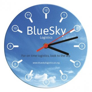 Horloge murale publicitaire en boitiers CD recyclés - rond - CLOCKCD