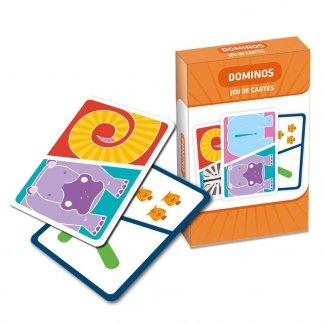 Jeu de 44 cartes à jouer pour enfants - Dominos - CARTA JUNIOR