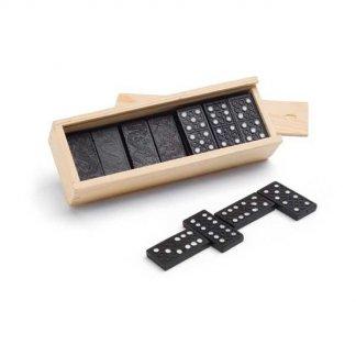Jeu de dominos dans boite en bois publicitaire - DOMIBLACK