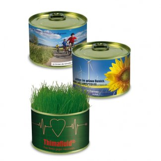 Kit de plantation dans boite de conserve en métal promotionnelle - LA NATURE EN CONSERVE