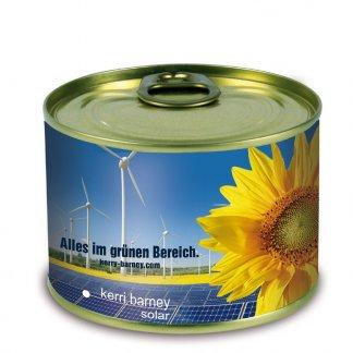 Kit de plantation dans boite de conserve en métal publicitaire - Eolienne - LA NATURE EN CONSERVE
