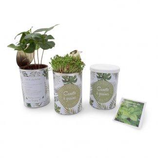 Kit de plantation dans boite de conserve personnalisée - CANETTE