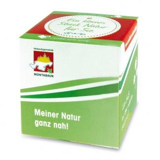 Kit de plantation personnalisé dans pot en polystyrène - Vert - CUBE VEGETAL