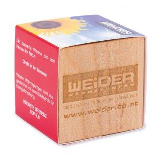 Kit de plantation promotionnel dans cube en bois avec aimant - Avec gravure - CUBE BOIS AIMANT
