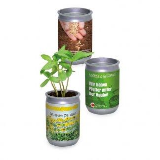 Kit de plantation publicitaire dans canette en PET - CANETTE JARDIN